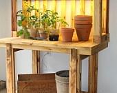 ECOGRO Potting Table Grow Bench: Pots Tables, Ecogro Pots, Potting Tables, Tables Growing, Growing Benches