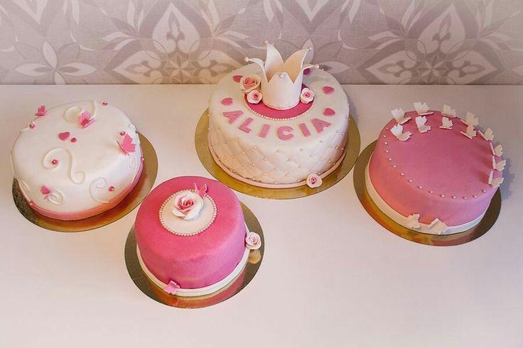 Princess girl cake cakes crown pink rosa doptårta doptårtor christening babtism tårta tårtor ⭐sockerlinn.se⭐