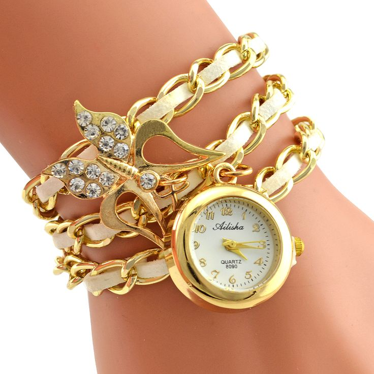 Crystal Butterfly Alloy Bracelet Wristwatch // Price: $10.95 & FREE Shipping //  We accept PayPal and Credit Cards.    #girl