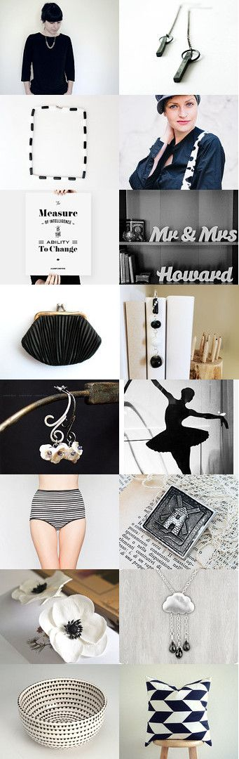 Black and White by Camilla Agathe Lande Jensen on Etsy--Pinned with TreasuryPin.com