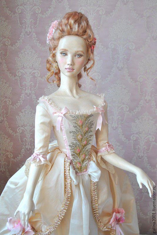 Купить Амелия - кукла из дерева - розовый, кукла ручной работы, кукла интерьерная, деревянная кукла #woodendoll