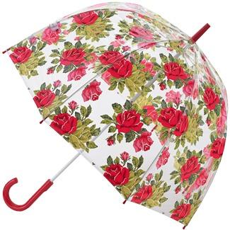 Cath Kidston Birdcage Dome PVC Umbrella - Royal Rose White