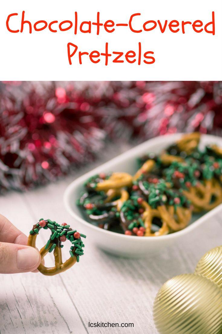 CHOCOLATE COVERED PRETZELS FOR CHRISTMAS #christmas #christmasrecipes  #recipe