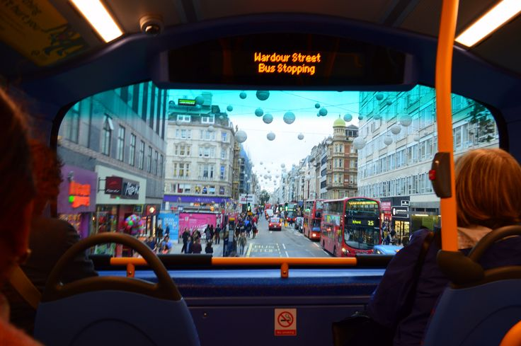 Oxford Street from the red bus
