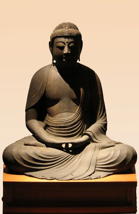 """Your strength is in your calmness, in the clarity of your mind.  Strength comes from putting the negative aside without reacting.  Win in calmness,  in consciousness, in balance.""   ~ Yogi Amrit Desai  Amida, Buddha of Infinite Light Japan - Heian Period - 12th Century   <3 lis"