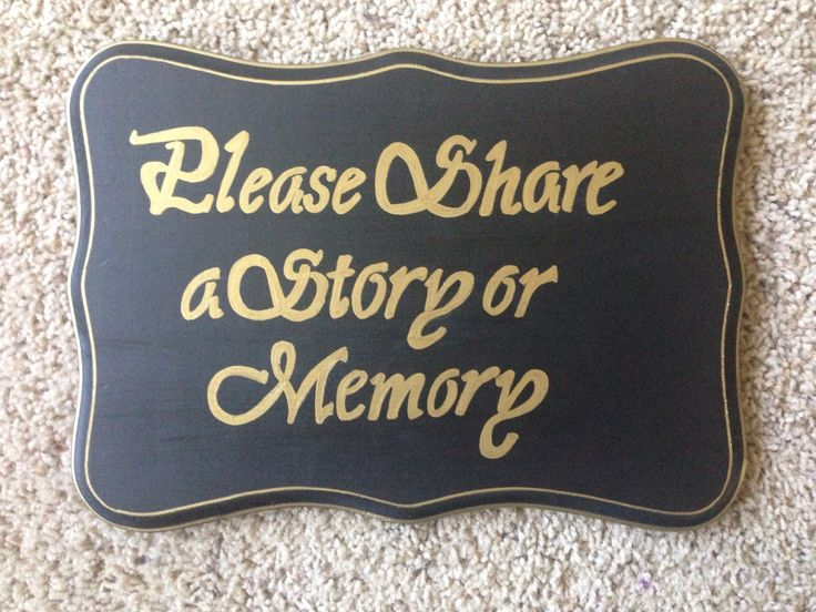 please share a story or memory sign  allaboutyoumlbdesigns