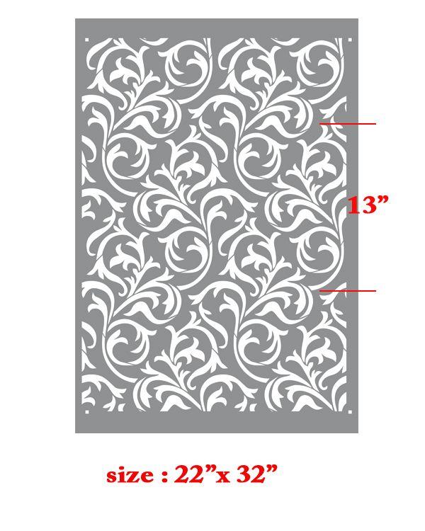 Geo Flower Stencils : Oh so romantic heather geo scroll swirls modern wall
