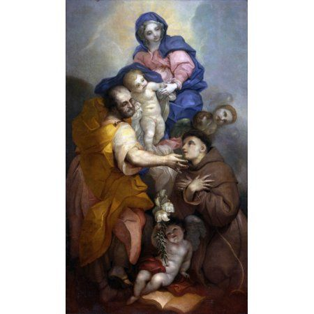 Holy Family With Saint Antonio From Padua Canvas Art - (24 x 36)