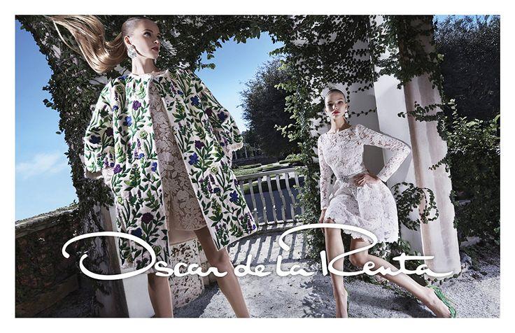 Oscar De La Renta's Final Spring Collection #fashion