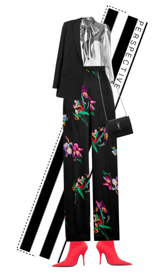 """""""7"""" by mirary ❤ liked on Polyvore featuring Yves Saint Laurent, Balenciaga, Etro, Givenchy and YSL"""