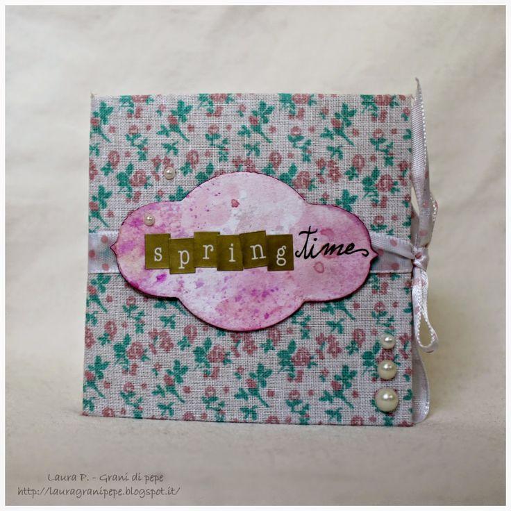 Grani di pepe: Mini album senza foto ispirato alla primavera!