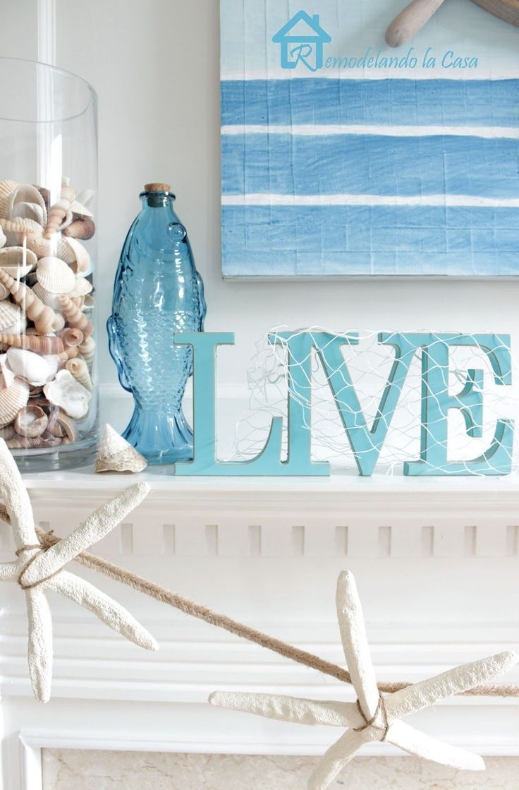 Beach decor.                             -- Found on http://wonderpiel.com/pages/10-most-remarkable-beauty-tips-ever