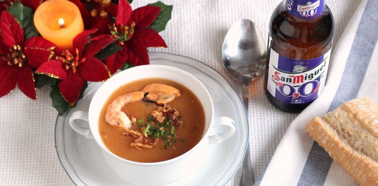 ¿Sin ideas para la cena de navidad? Proponemos crema de marisco, receta de Navidad paso a paso con fotos y sugerencias de aprovechamiento para lo que nos sobre.