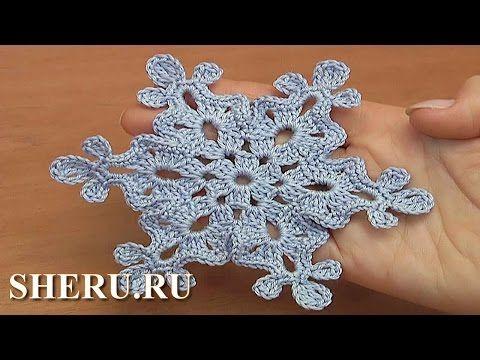 How to Crochet Floral Scrumble Урок 4 часть 2 из 2 Цветочный мотив в технике фриформ - YouTube