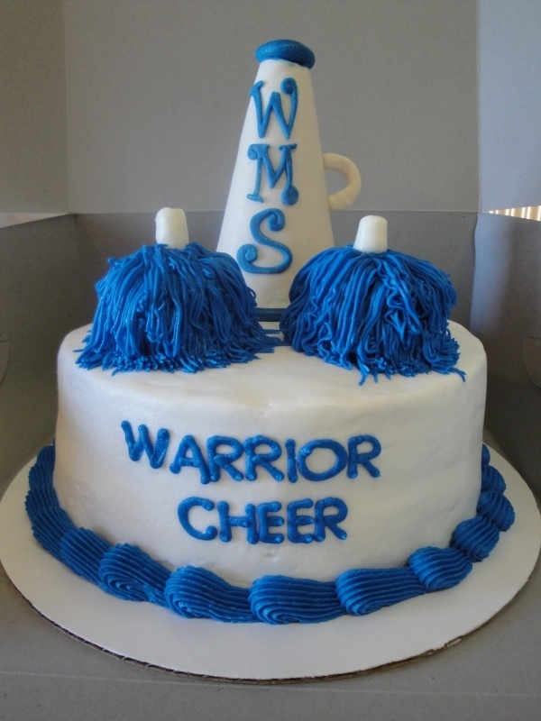 I would love this to be my birthday cake if I make the RMS cheer squad but it would say RMS and have black and gold colors