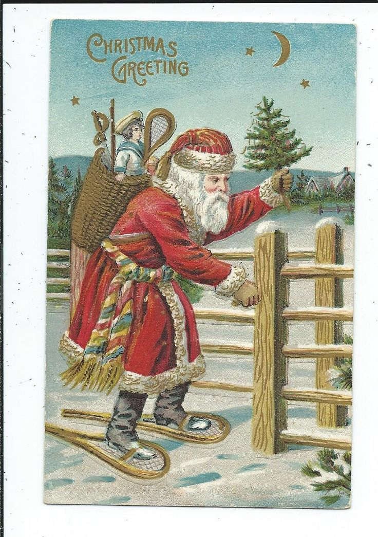 994 Best Vintage Santa Claus Images On Pinterest Vintage