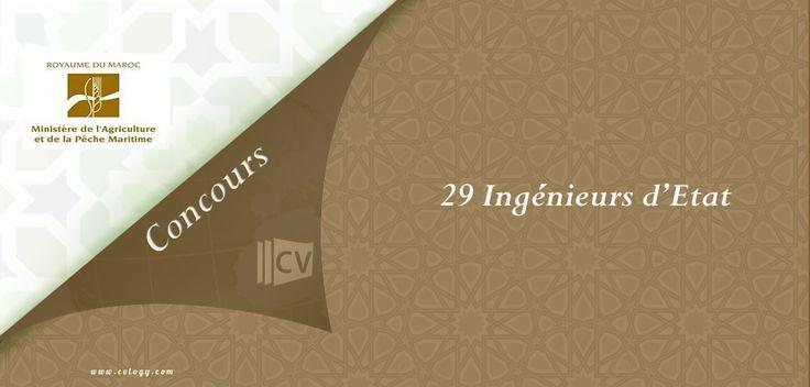 #Ministère de l'#Agriculture: #Concours de #recrutement de 29 #Ingénieurs d'#Etat
