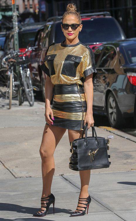 Jennifer Lopez wearing Christian Louboutin Viennana Strappy Ankle ...