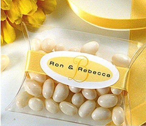 50 stuks- hete kussen vorm pvc dozen snoep bruiloft gunst doos geschenkdoos