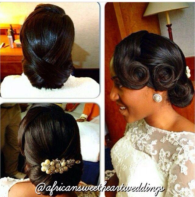 Bridal vintage hair up do