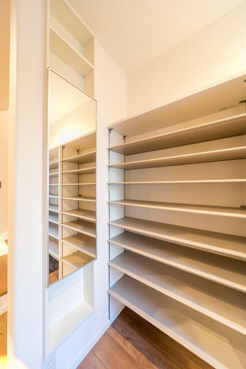 """「エイダイ スリムインタイプ収納シリーズ」はS様邸の洗面室でご紹介しました。その""""エントランスプラン…"""