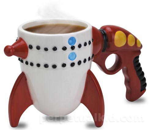 Raygun MugRetro Ray, Coffe Cups, Gift Ideas, Big Mouth, Ray Guns, Mouth Toys, Home Kitchens, Coffee Mugs, Guns Rocket