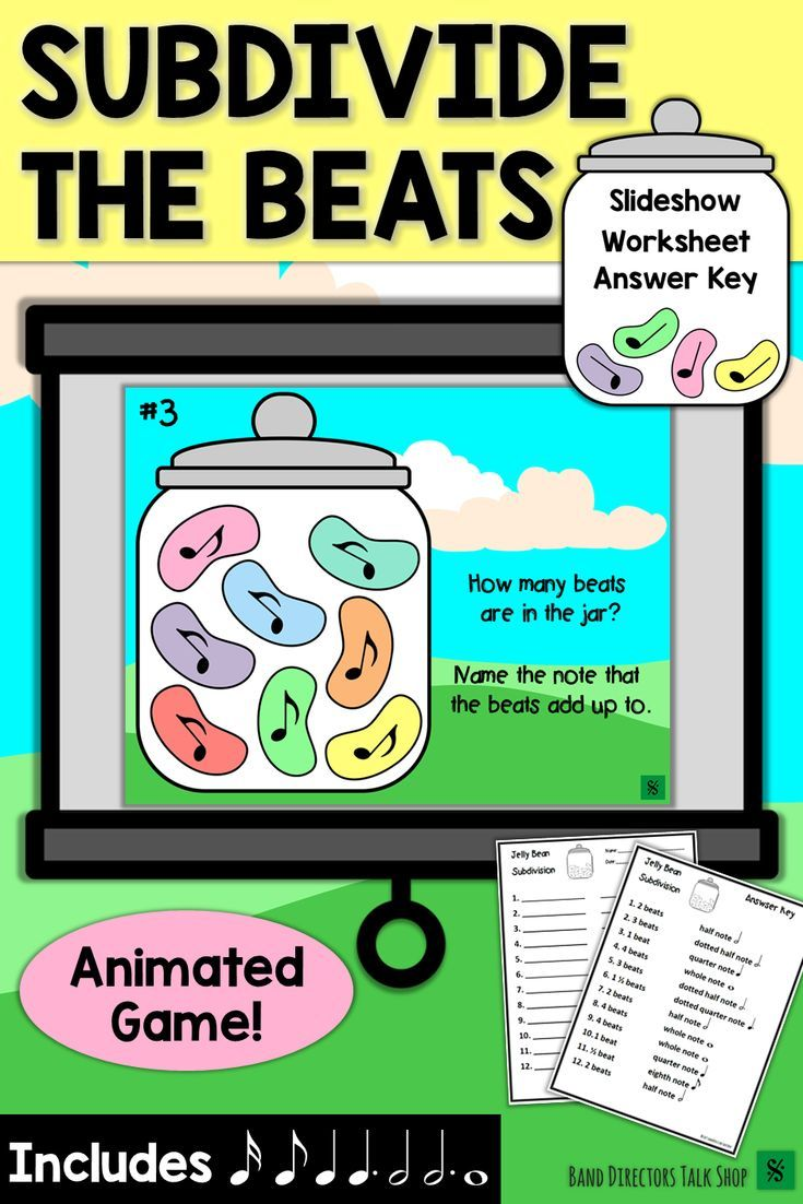 Spring Music Game & Activities - Jelly Beans Subdivision | Music