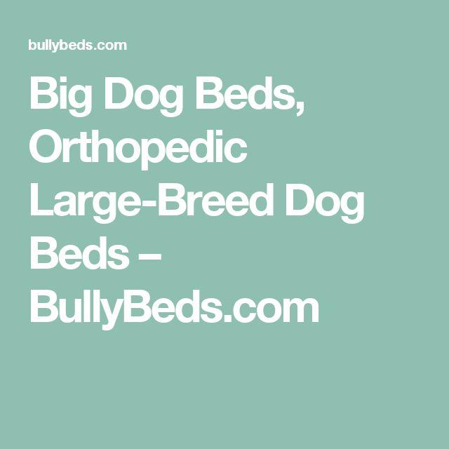 Big Dog Beds, Orthopedic Large-Breed Dog Beds – BullyBeds.com
