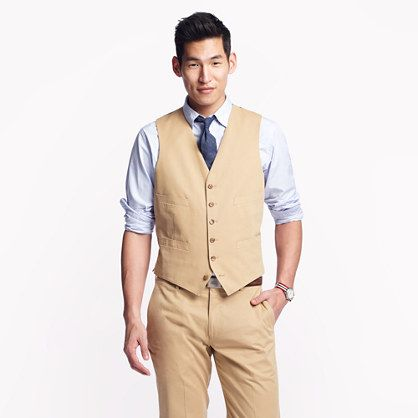 J crew ludlow suit vest in italian chino vest only j