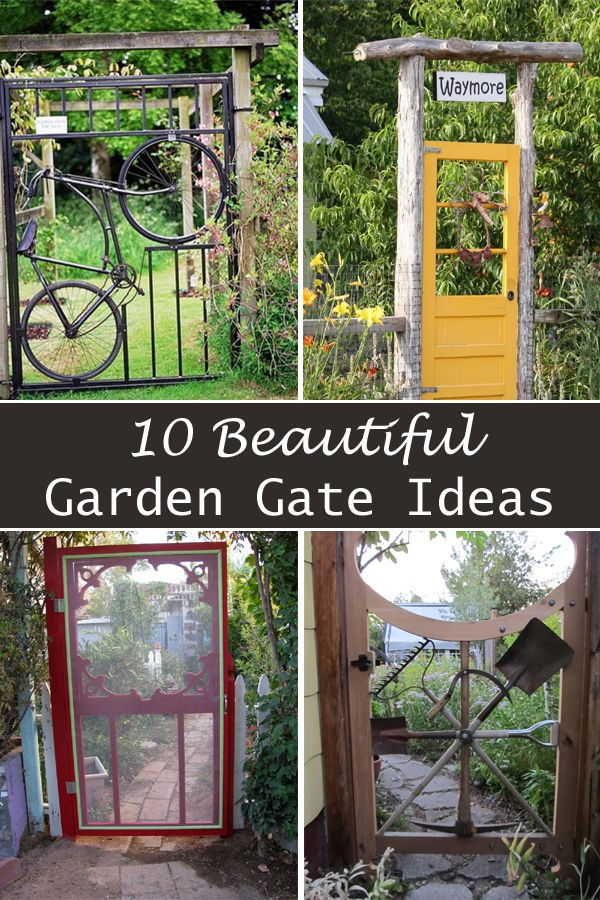 Top 25 ideas about garden decor and more on pinterest for Designs for garden gates