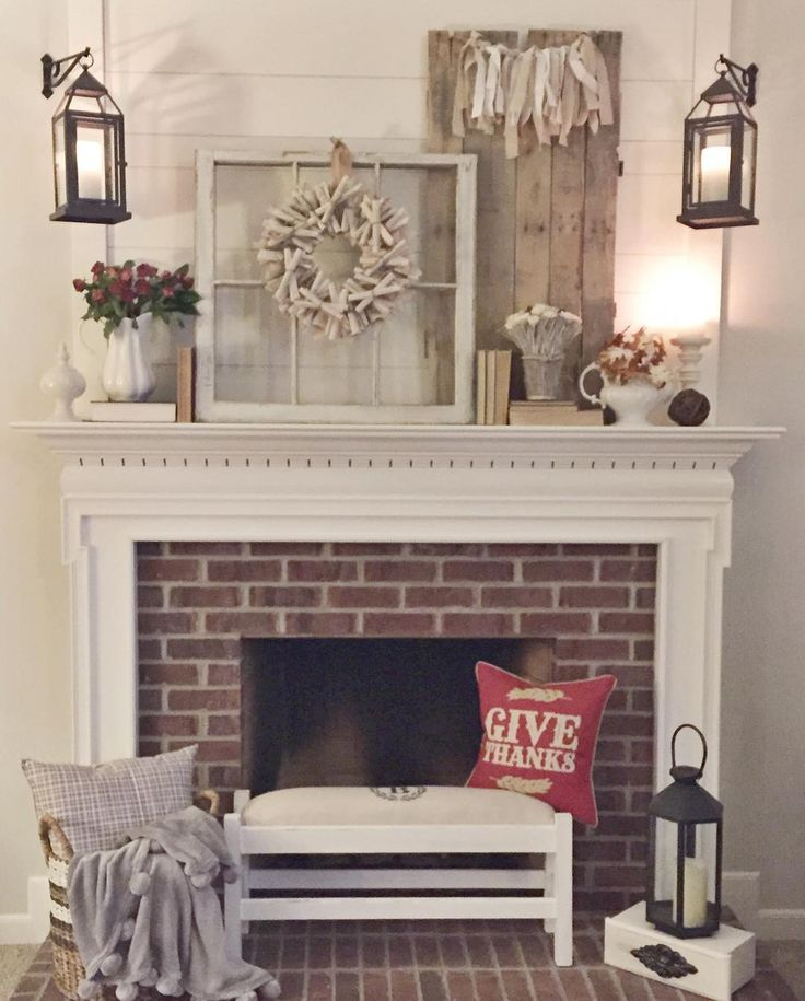 Mantle fall decor 58 best Fireplaces images