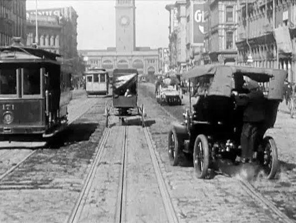 A Trip Down Market Street is a 13-minute actuality film recorded by placing a movie camera on the front of a cable car as it travels down San Francisco's Market Street. A virtual time capsule from over 100 years ago, the film shows many details of daily life in a major American city, including the transportation, fashions and architecture of the era.