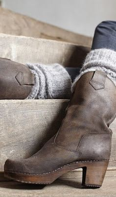 Awesome rustic brown boot with a casual heel