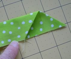 Best and easiest binding technique out there! Creating this pocket at the beginning means you don't have to be so precise in the length of the binding at the end. Tuck the end in the pocket, sew it down, and once it's folded over and hand sewn to the back, you can hardly tell where it joins!