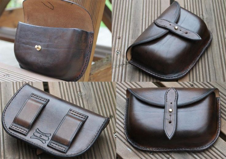 Leather belt pouch or Possibles Pouch. Handcrafted and hand stitched. 15cm x 9cm x 4-5c