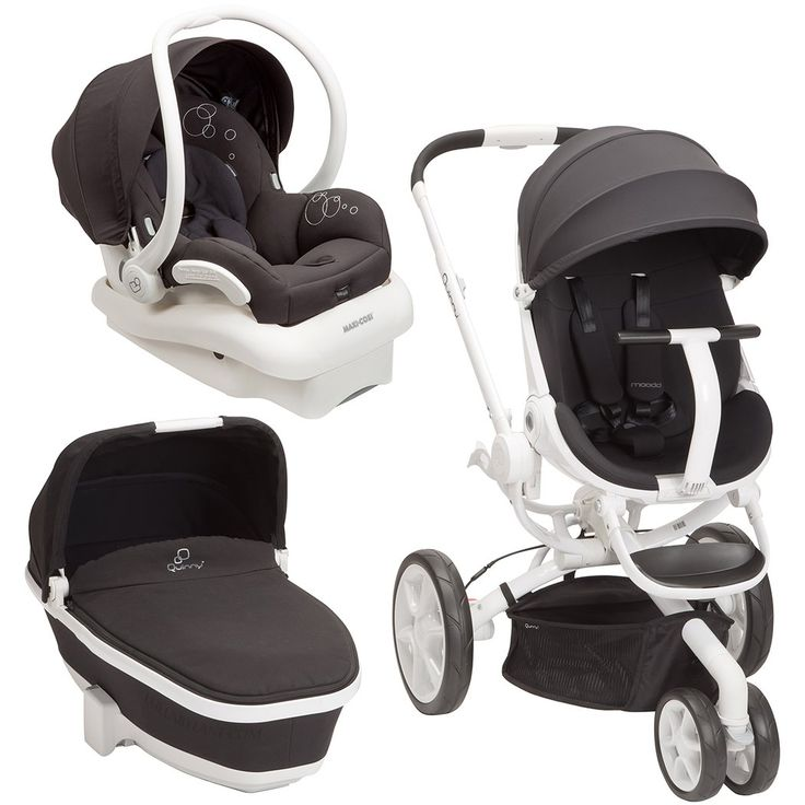 Amazon.com : Quinny Moodd Stroller Travel System, Black Irony with Bassinet : Baby