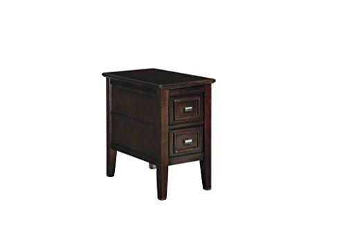 Ashley Furniture Signature Design Larimer Chair Side End Table Dark Brown