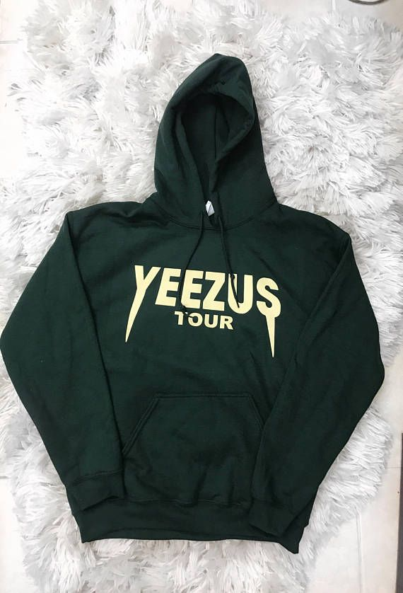 Yeezus Tour Unisex Forest Green Army Hoodie Kanye West Yeezy