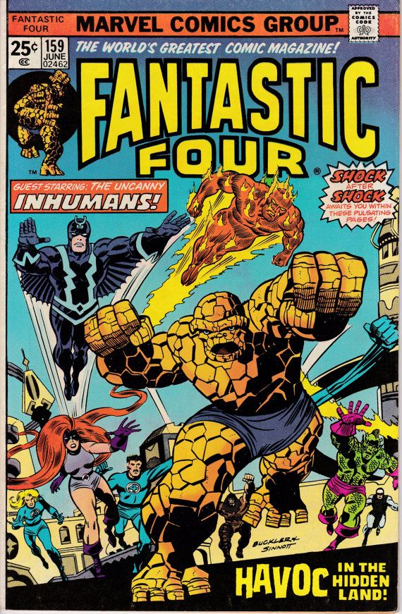 Fantastic Four 159 June 1975 Issue Marvel Comics by ViewObscura