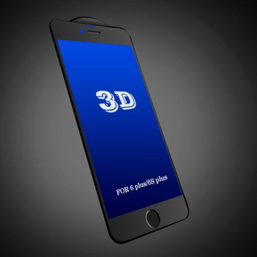 FEMA Anti-blue-ray 3D Curved Tempered Glass Screen Film 0.3mm for iPhone 6/6s - Black