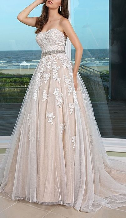 I like the silver and the embroidery on the overshell - maybe in a bolder color? Davinci Wedding Dress