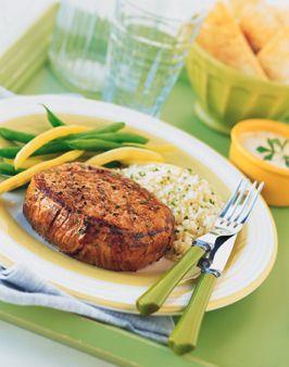 Steaks with Garlic-Yogurt Marinade