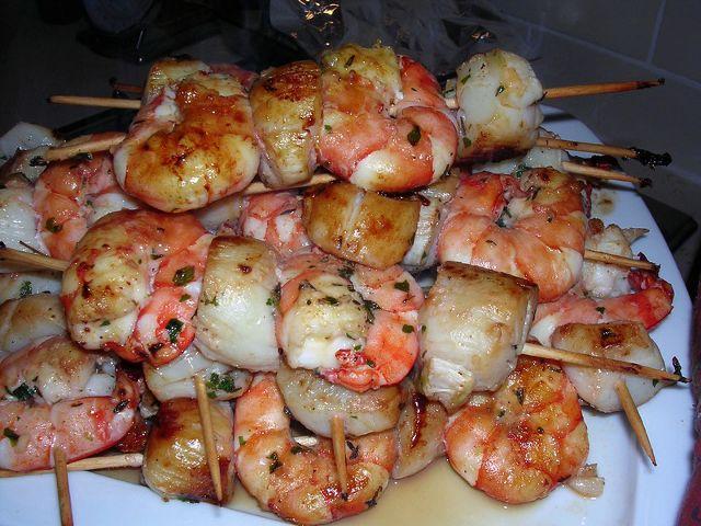 175 best recetas de cocina images on pinterest cooking for Brochetas de gambas