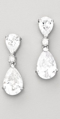 I want to wear these on my wedding day <3  Kenneth Jay Lane Double Pear Drop Earring