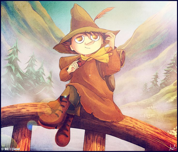 Home is, where the way is. I can't even express, how I love this piece of Snufkin fan art.