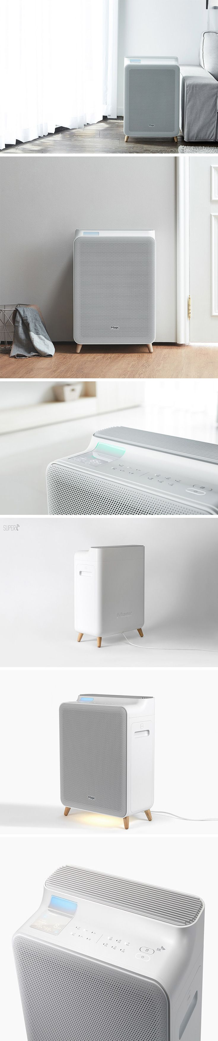 Super L is perhaps the cutest air purifier ever! Its atomic-style legs and slim profile allow it to blend in seamlessly with your other furniture, unlike other unsightly air units. Designed to be as autonomous as it is aesthetically pleasing, it detects the air quality indoors and makes adjustments on its own to purify and remove pollution.