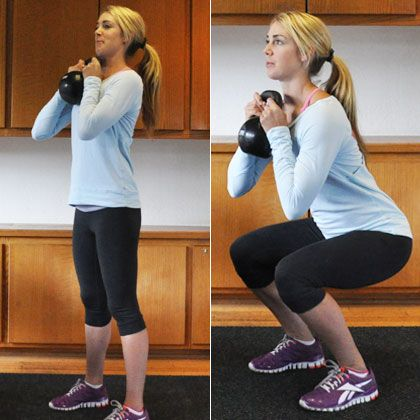 Kettlebell Workout: Burn 20 Calories a Minute!  By using a kettle bell, you work all your major muscle groups at once.  Add definition to your shoulders, back, butt, core & arms.   Remember: lean is the new skinny!