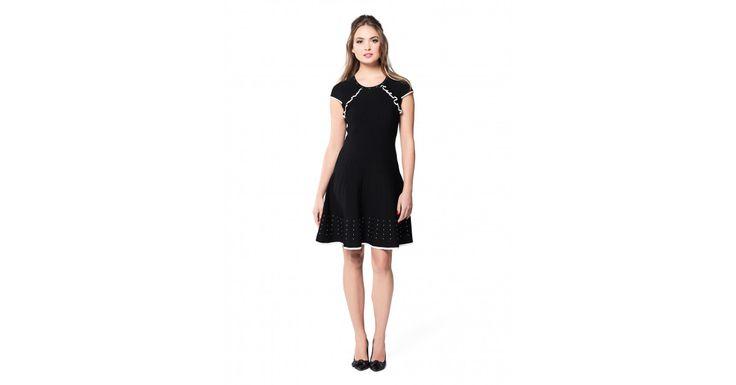 Review Australia - Frill Me Dress Black/cream