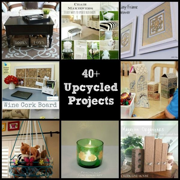 40 upcycled and recycled crafts and diy projects perfect for Best upcycled projects