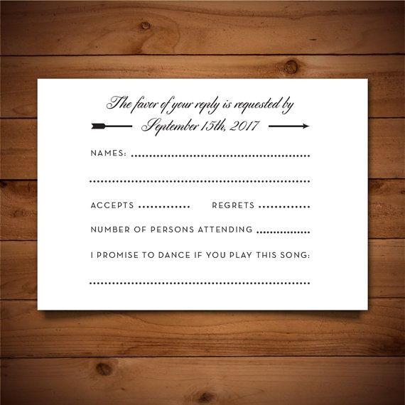30 best Wedding RSVP Templates images on Pinterest Wedding rsvp - free rsvp card template